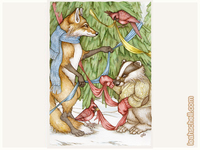 Fox and Badger Solstice